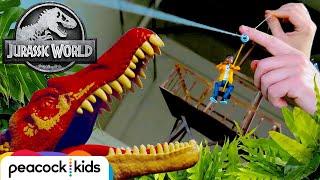 Building a Mini Zipline! | JURASSIC WORLD: CAMP CRETACEOUS