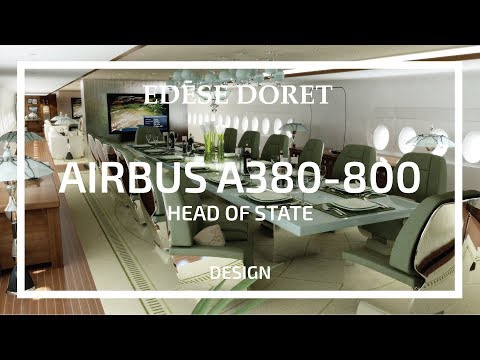 Head of State Airbus A380 designed by Edese Doret