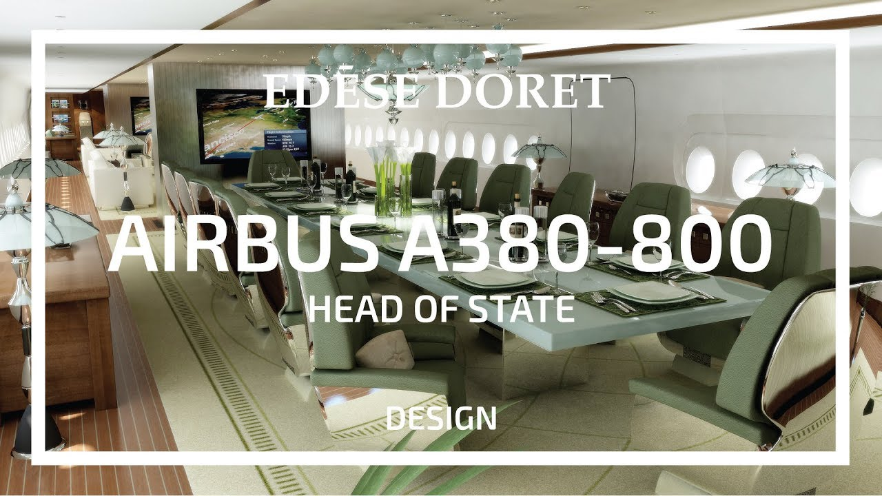 Private Jet With Bedroom Head Of State Airbus A380 Designed By Edese Doret Youtube