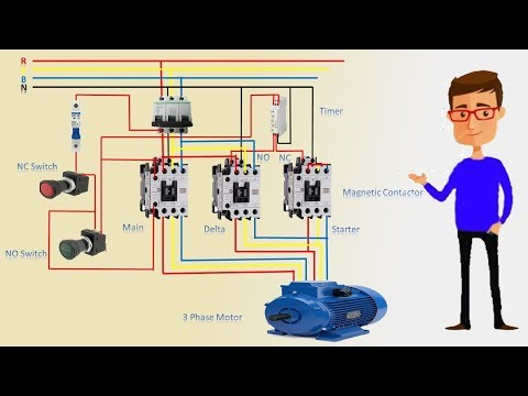 3 phase star delta motor wiring diagram | 3 phase motor | earthbondhon -  youtube  youtube