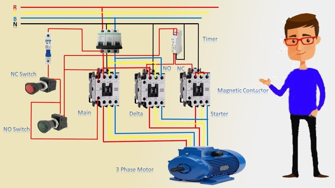 [DIAGRAM_4PO]  3 Phase Star Delta Motor Wiring Diagram | 3 phase motor | Earthbondhon -  YouTube | Delta Motor Wiring Diagram |  | YouTube