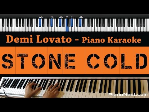 Demi Lovato - Stone Cold - Piano Karaoke / Sing Along / Cover with Lyrics