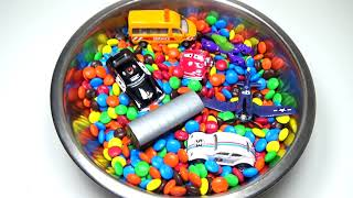 M&M Cars, Dinosaur, Fruits & Vegetables Surprise Toys Learn Colors, Names Orbeez
