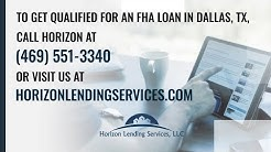 An FHA Home Loan in Dallas, TX might be your best option. Here's why.