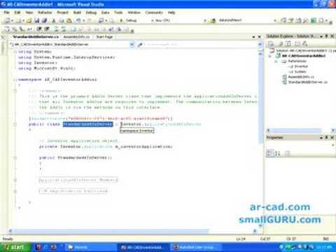 Develop Autodesk Inventor Addins using C# - Part 1a