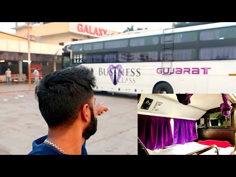 Gujarat Travels BUSINESS CLASS SLEEPER | India's Most Luxurious bus |Pune to Ahmedabad