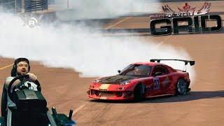Феерический дрифт-фристайл на Mazda RX-7 в Race Driver: GRID