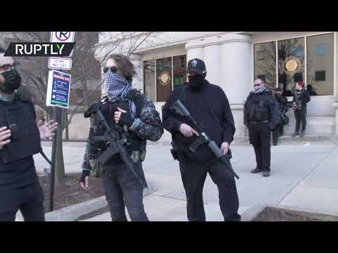 Armed rally   Michigan protesters demand justice for man killed in police custody