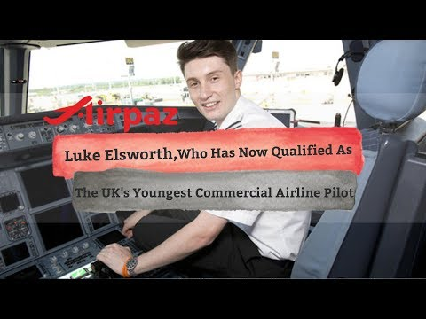 Luke Elsworth, Who Has Now Qualified As The UK's Youngest Commercial Airline Pilot
