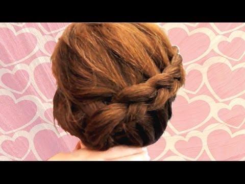 cute braided bun hairstyles