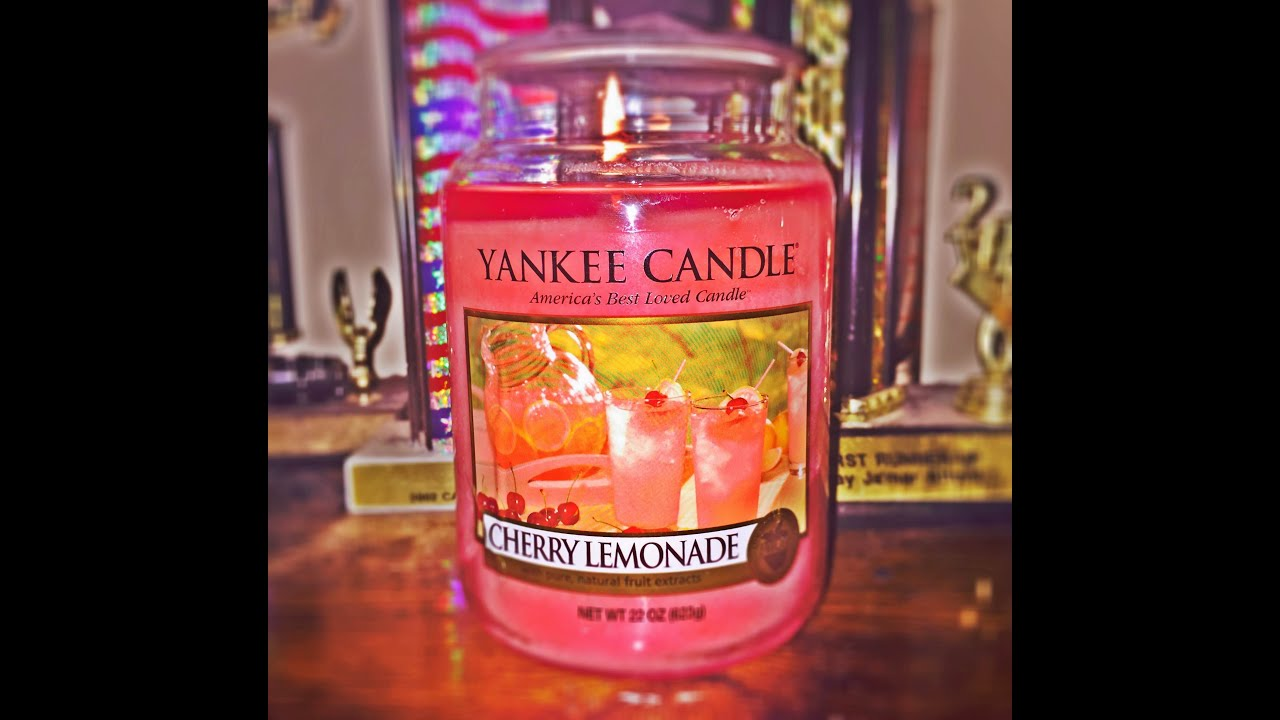 --Yankee Candle Cherry Lemonade-- Candle Review - YouTube