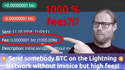 Send BTC on the ⚡Lightning Network ⚡without invoice but HIGH fees!