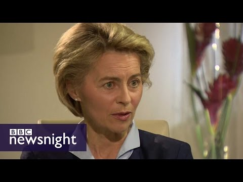 Interview with German defence minister Ursula von der Leyen - BBC Newsnight
