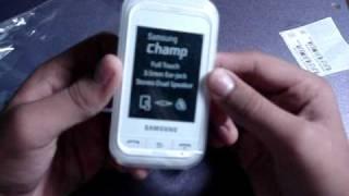 Samsung Champ GT-3303K Unboxing