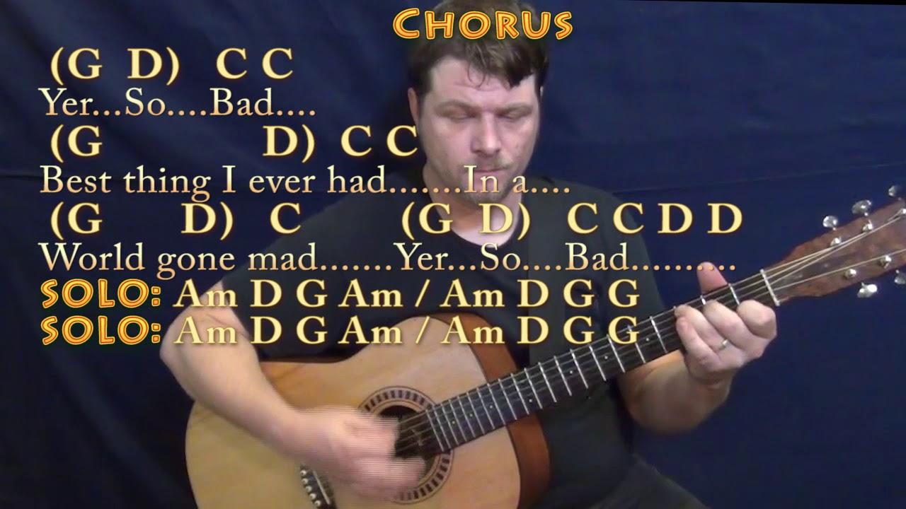 Yer So Bad Tom Petty Guitar Lesson Chord Chart With Chordslyrics