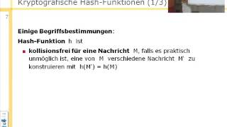 Informationssicherheit (SS 2013), Kryptografische Hash-Funktionen