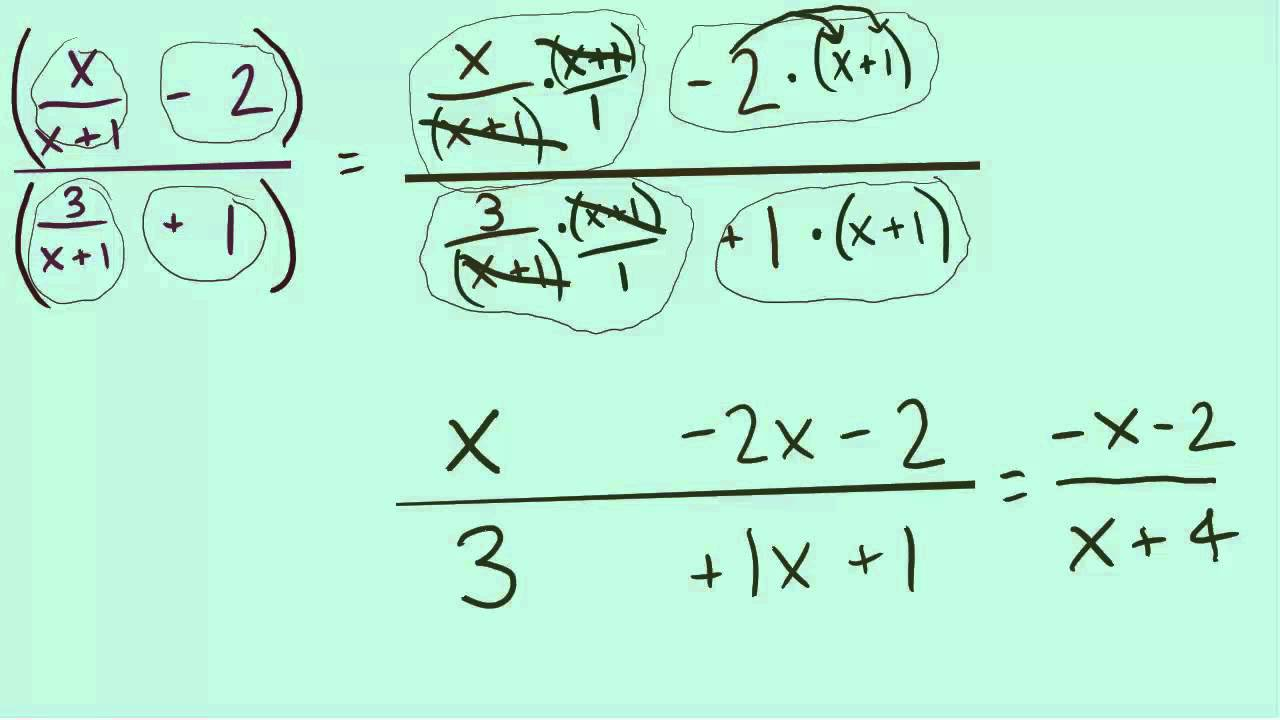 Simplifying complex fractions with variables using lcm youtube robcynllc Image collections