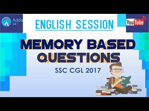 English: Memory Based Questions For SSC CGL 2017