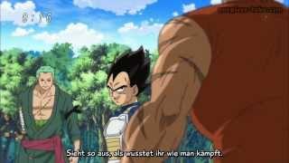 Vegeta Vs Zoro Vs Zebra (Ger Sub) One Piece Special