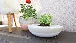 DIY Painted Cement Planters | withHEART
