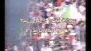 TALLERES RE CAMPEÓN 1era B 1987/88