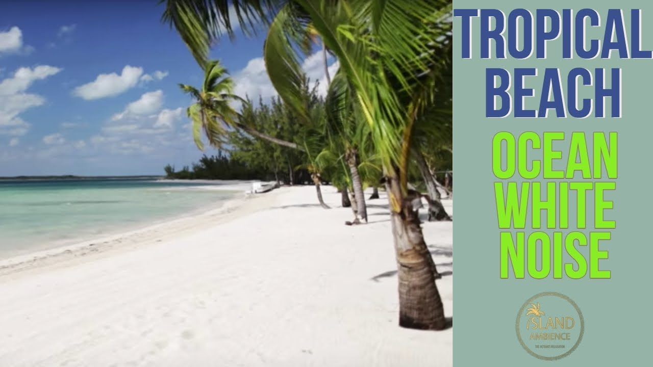 Tropical Island Beach Ambience Sound: Tropical Beach Ocean White Noise Island Ambience: Relaxing