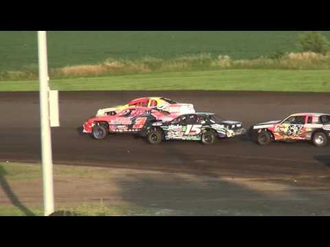 IMCA Stock Car feature Benton County Speedway 7/31/16