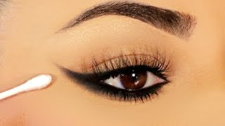 TRY THIS!! Easiest Reverse Smokey Eye with a Q-TIP!