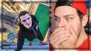 Don't Look Down! You'll Be Sick! *CLIMBING EXTREME HEIGHTS* - Reaction