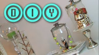 DIY Cloche Jewelry Holder | Rings & Brac...