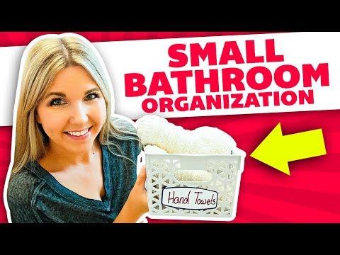 Dollar Tree Small Bathroom Organization and Storage Ideas