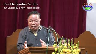 Rev  Dr  Gordon Za Thio HBC Cawnpiaknak ah a zaanhnihnak thawngttha a chimmi