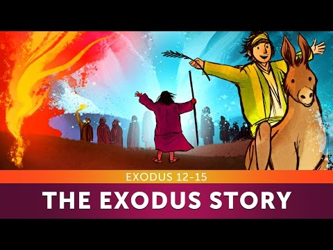 Sunday School Lesson - The Exodus Story - Exodus 12-15 - Bible Teaching Stories for Christians