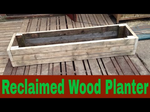 DIY Raised Bed Planter box from a Reclaimed Bench