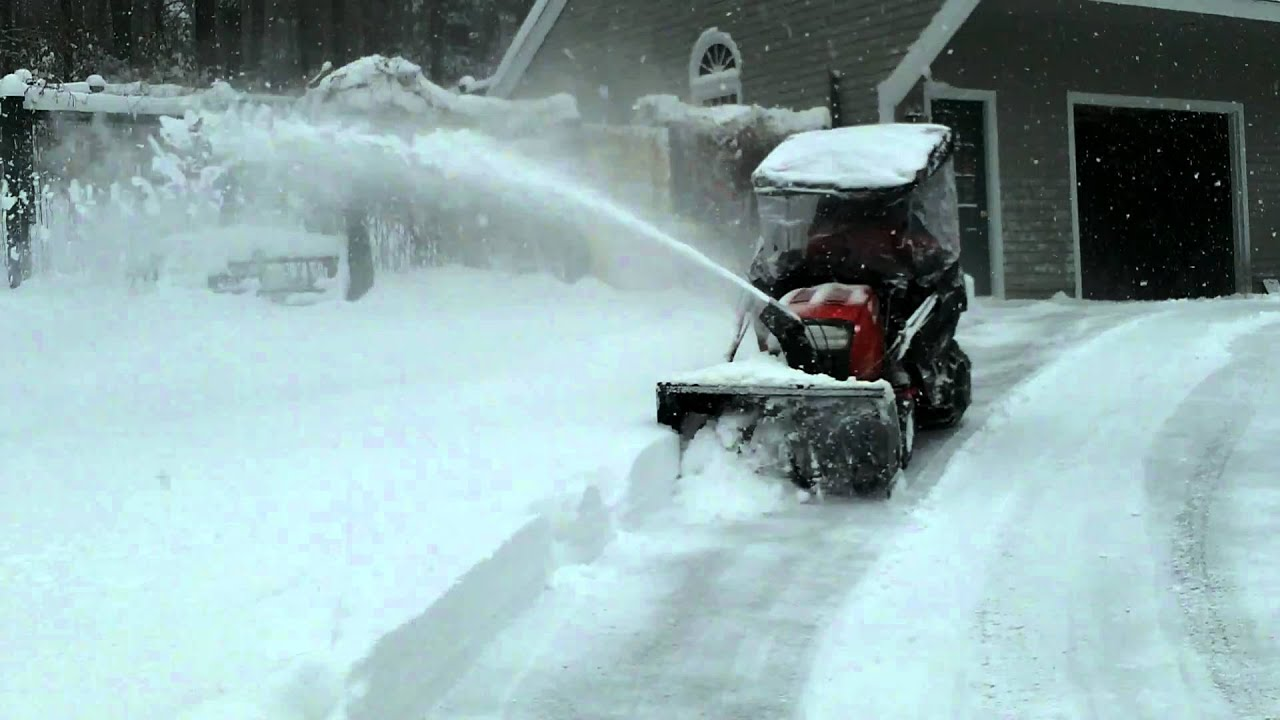 Finally A Ltx 1842 Lawn Tractor With The Snowblower