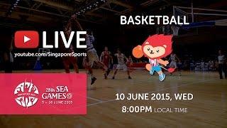 Basketball Mens Vietnam vs Singapore (Day 5) | 28th SEA Games Singapore 2015