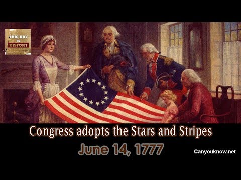 D. K. Smith - June 14, 1777 Congress adopts the Stars and Stripes
