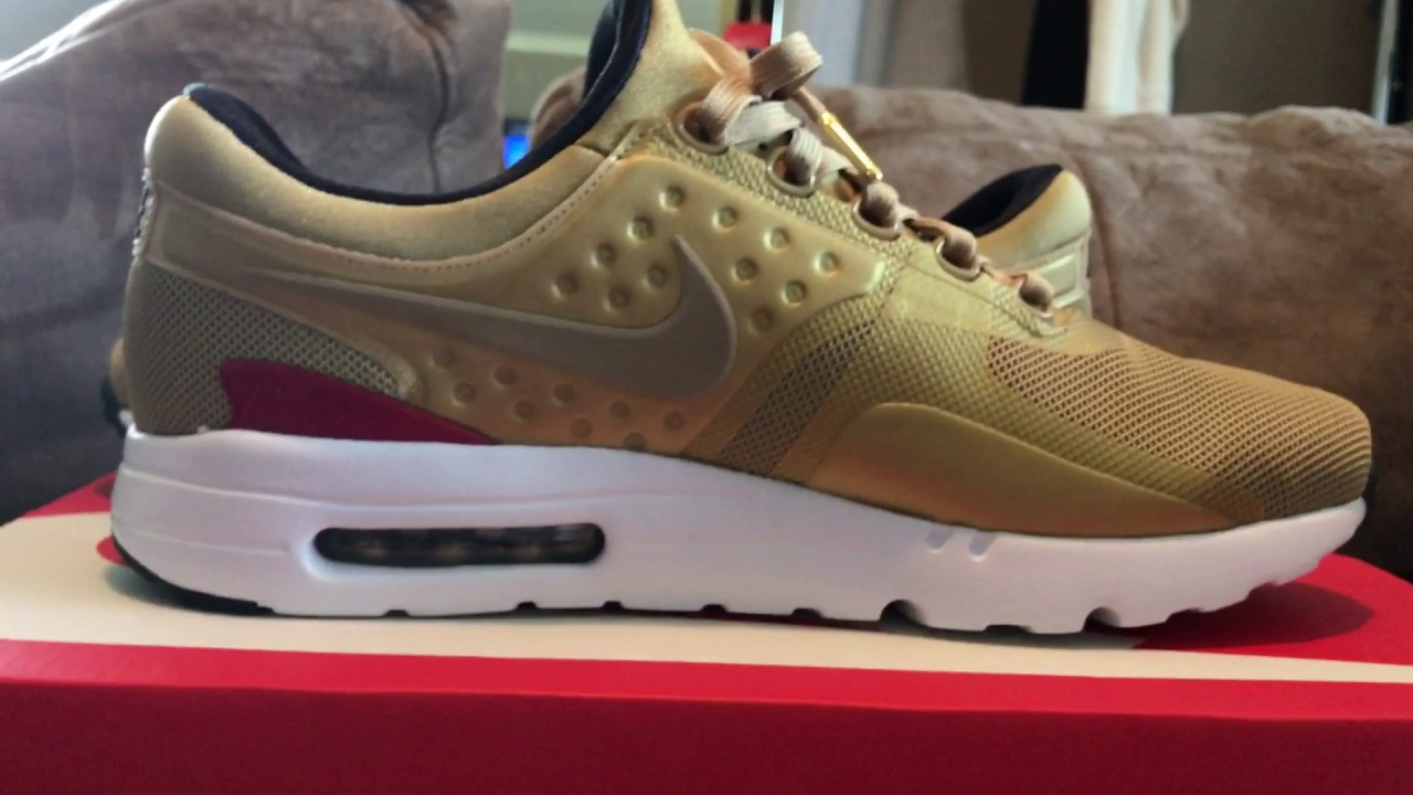 d6ce134f11ec4 Nike Air Max Zero Gold pack - YouTube