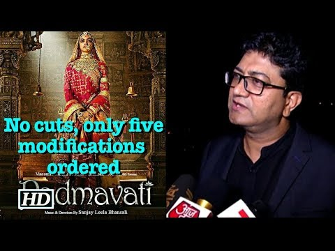 CBFC chief on 'Padmavati': No cuts, only five modifications ordered