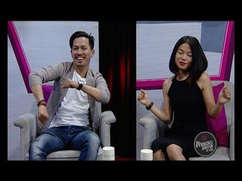 Choreographer Prashant Tamang with Susma Rai (LIVON-THE EVENING SHOW AT SIX)