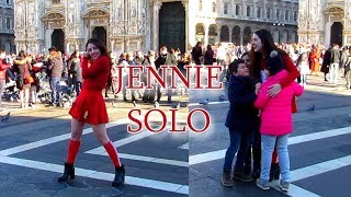 [KPOP IN PUBLIC HUGGING STRANGERS] Jennie - Solo - Christmas Special Dance Cover 🎄