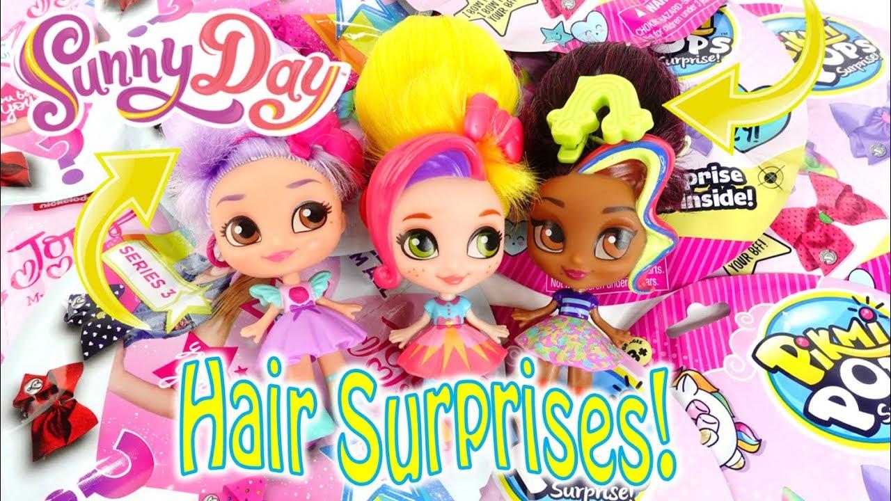 Sunny Day Wonder Buns and Jojo Siwa Pikmi Pops Hairbows