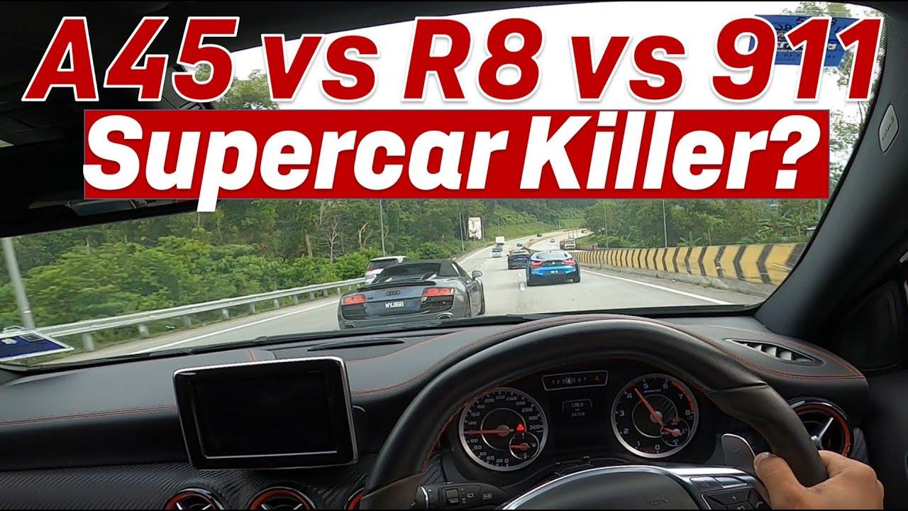 MERCEDES A45 SUPERCAR KILLER? GENTING KARAK UPHILL