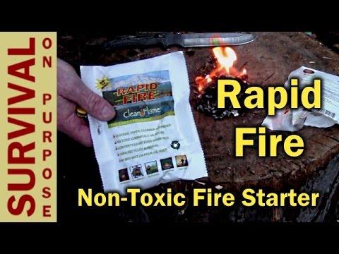 Rapid Fire Non Toxic Starter Firestarter Videos