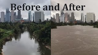 Hurricane Harvey -- Before and After Compilation.
