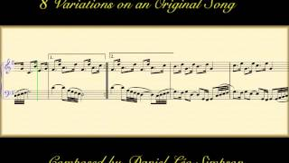 8 Variations for Pianoforte on the original song