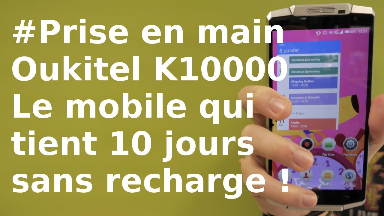 868d0432252b8e Oukitel K10000 : le smartphone aux 10 jours de batterie ! - YouTube