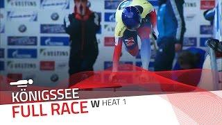 KÖnigssee | BMW IBSF World Cup 2015/2016 - Women's Skeleton Heat 1 | IBSF Official