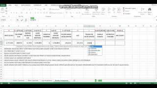 Bordro Hesaplama -Excel - 2017