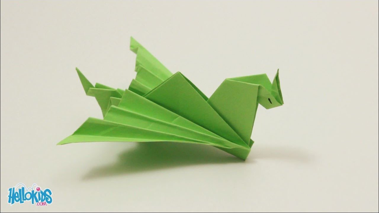 Tutoriel fabriquer un dragon facile origami hellokids - Video d origami facile ...